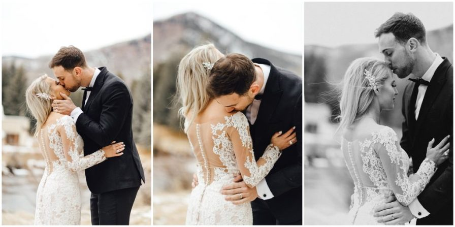 Sweet moments from this couples elopement in Vail Colorado
