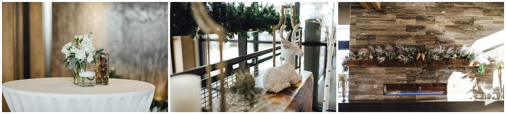 Beautiful winter wedding details and decor