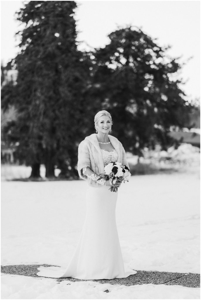 Beautiful bride in Colorado for a Breckenridge winter wedding.
