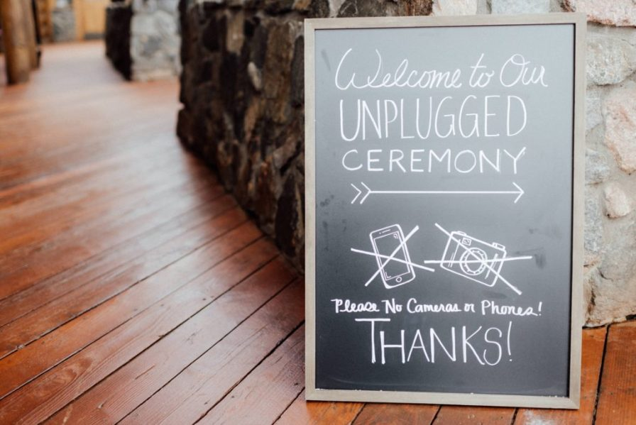unplugged ceremony signs