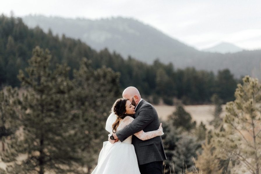 sunny wedding day in Evergreen