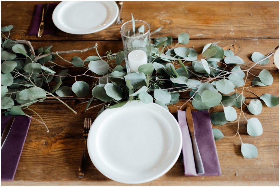 eucalyptus centerpieces