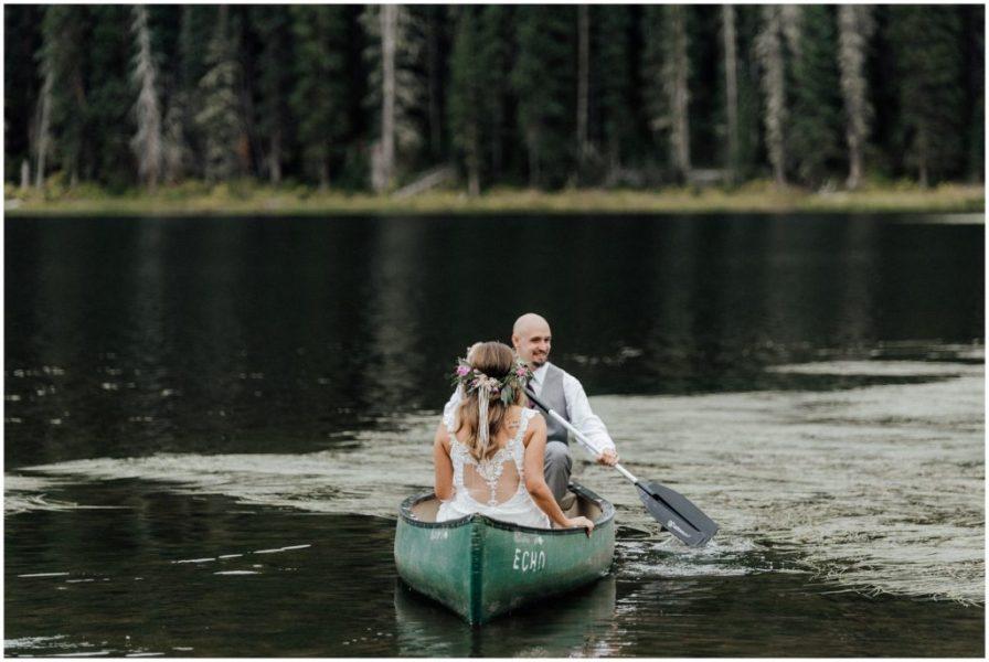 canoe wedding photos