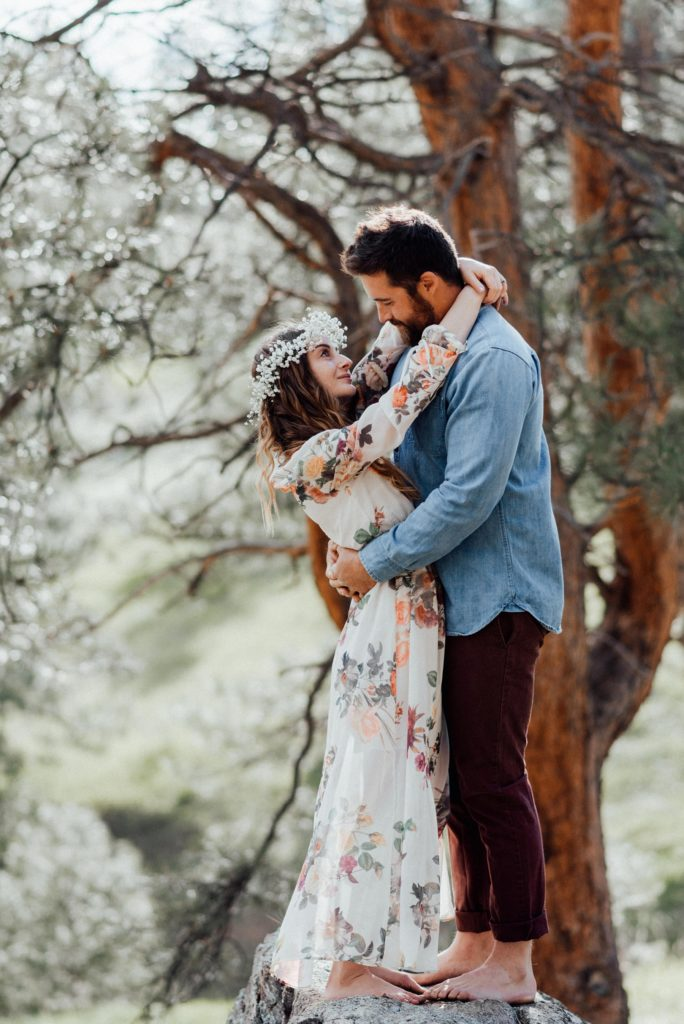 Boho inspired engagement