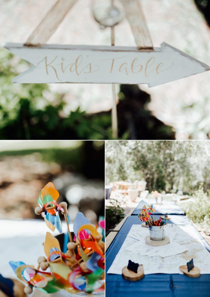 Kids table ideas, wedding kids table