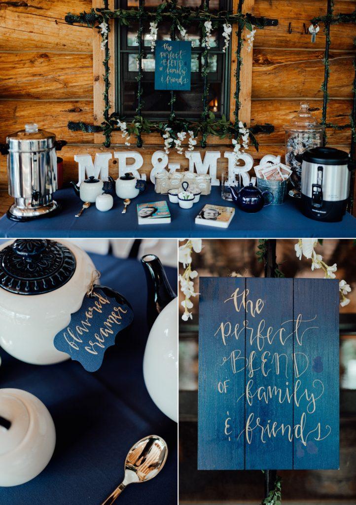coffee bar, wedding coffee bar