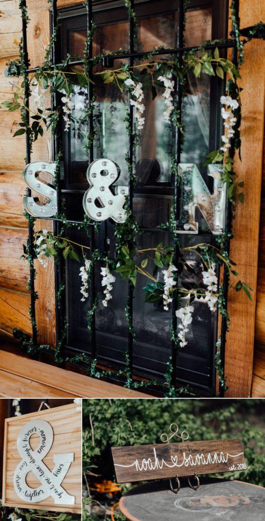 greenery wedding details