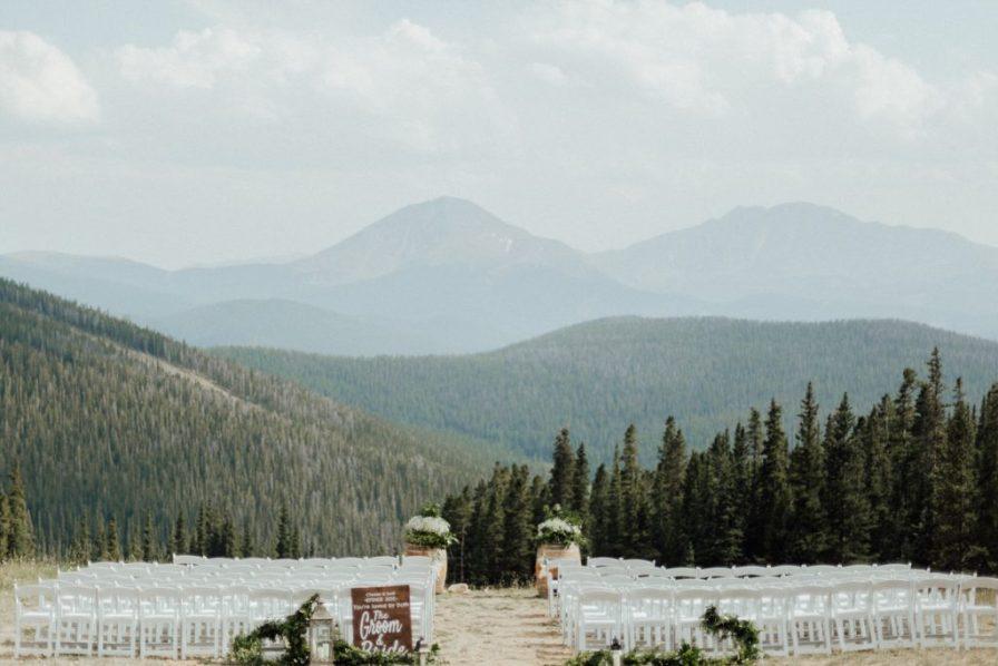 Timber Ridge wedding ceremony, Keystone resort wedding