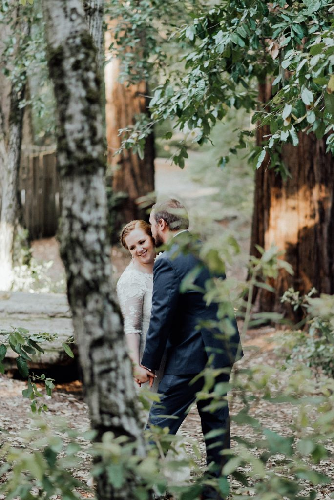 Camping wedding in the Big Basin Redwood State Park