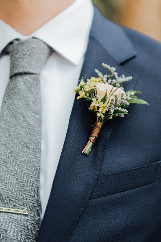 boho inspired boutonniere