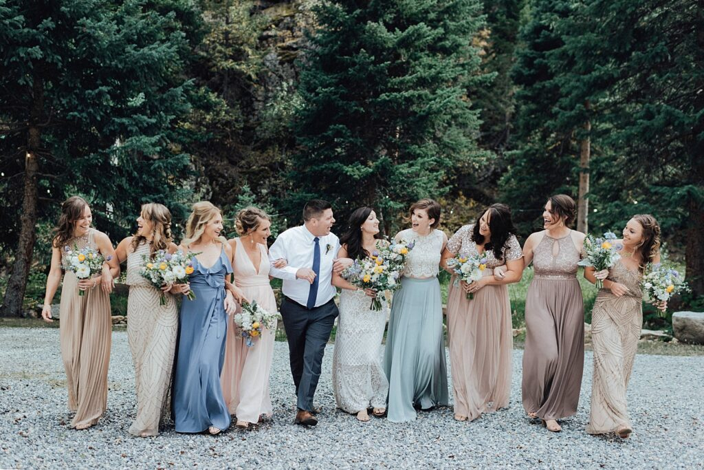 Boho inspired bridesmaid dresses
