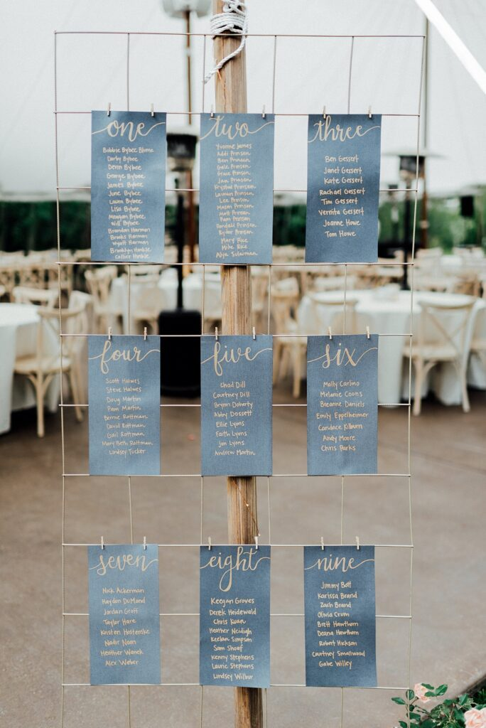 Guest seating chart ideas, guest escort cards