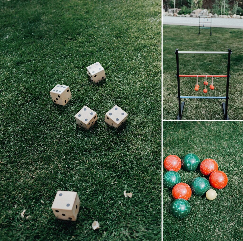 Wedding yard game ideas