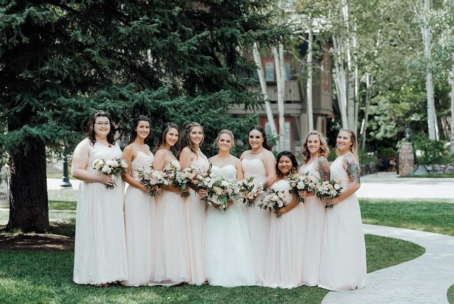 Blush bridesmaid dresses, bridesmaid dress ideas