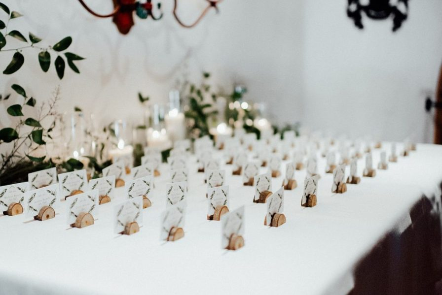 Wedding table number ideas, wedding guest cards