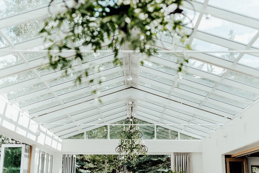 Wedding chandeliers, wedding greenery decorations