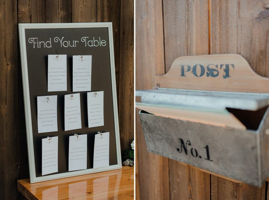Wedding seating chart, guest escort cards, wedding card box ideas