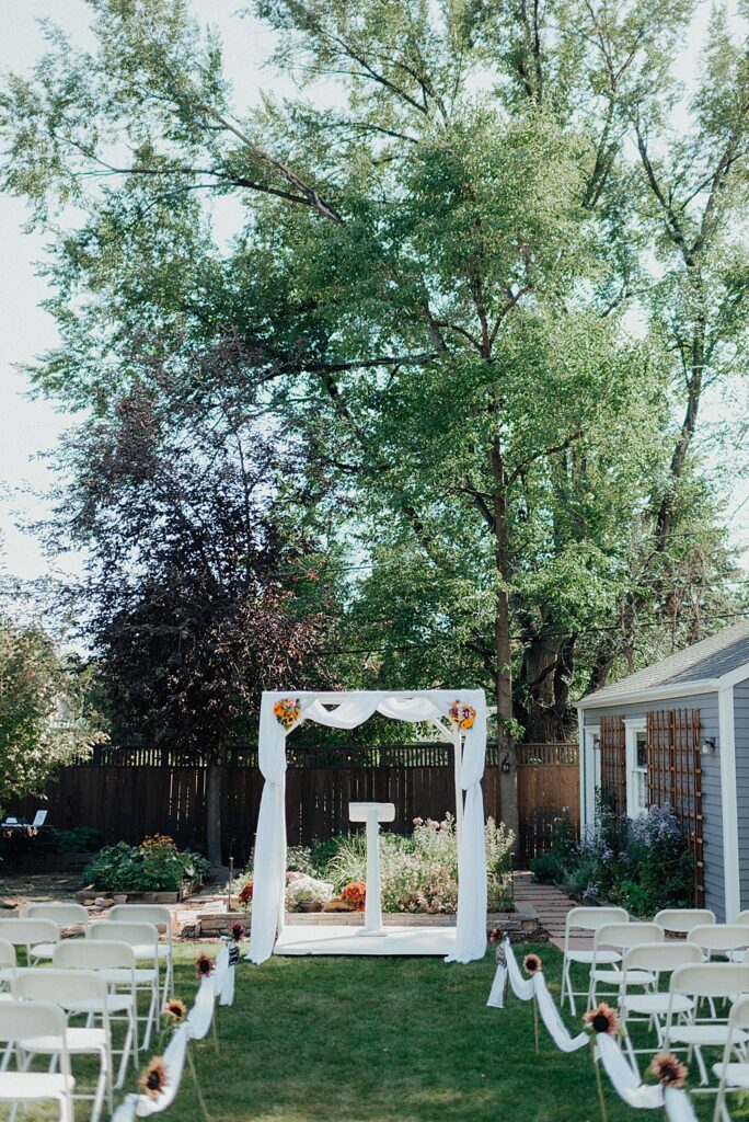 Backyard wedding ideas, wedding arch ideas