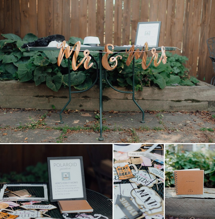 Backyard wedding ideas, Polaroid photo booth ideas