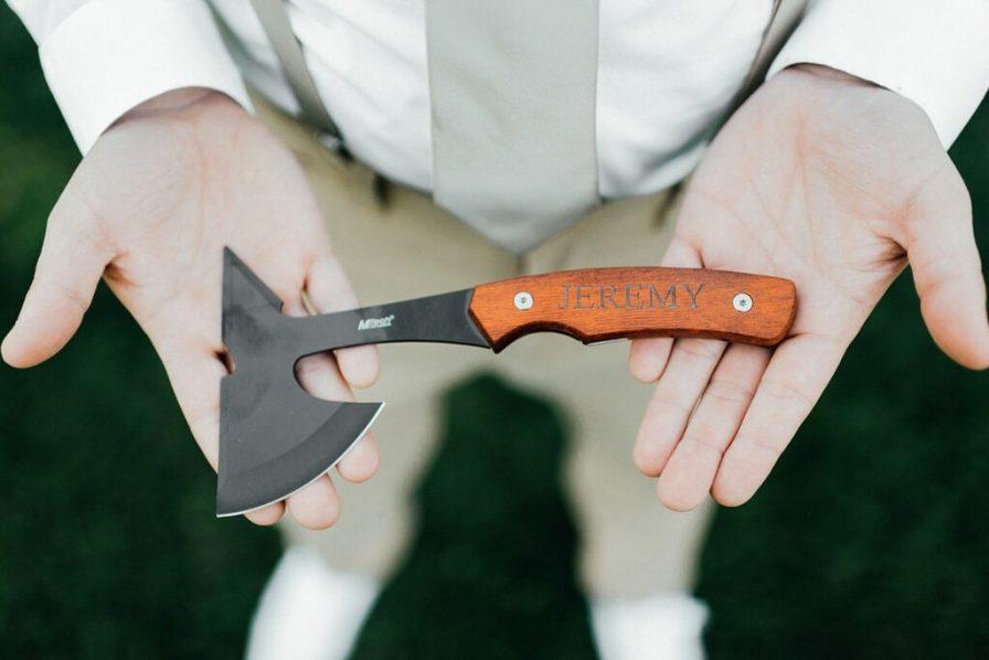 Groom gift ideas, groom hatchet