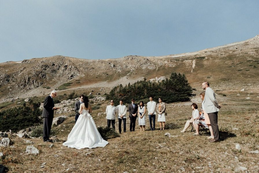 Intimate elopement with closest family and friends