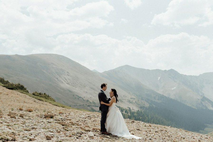 Intimate Colorado elopement at Loveland Pass