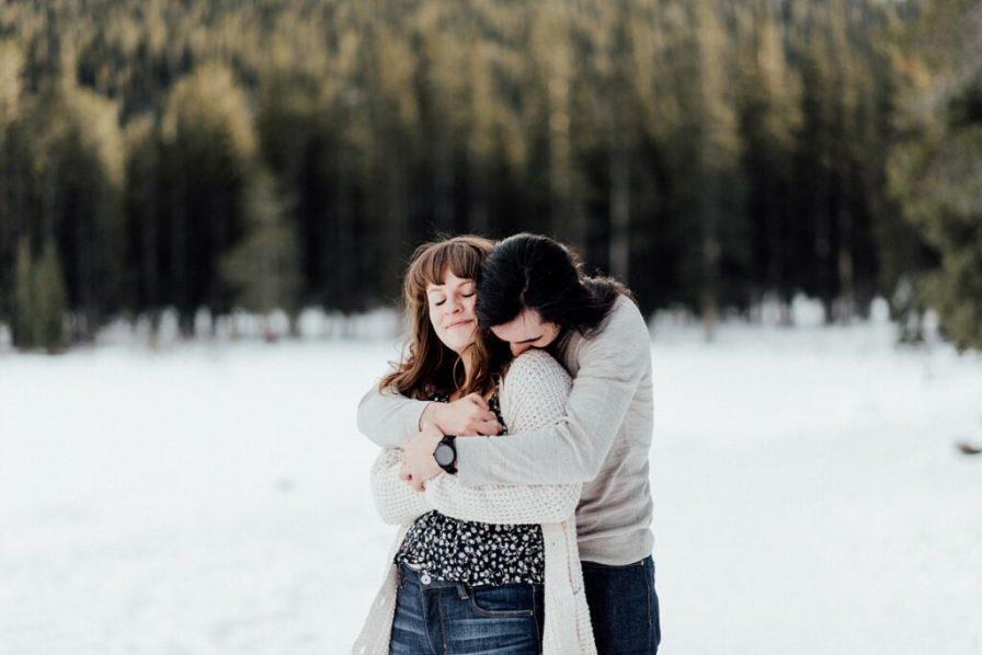 Colorado winter engagement photos