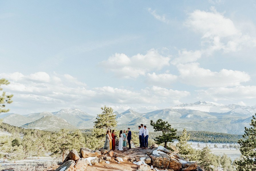 elopement at the 3M curve in rocky mountain national park