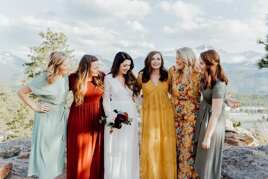 mismatched bridesmaid dresses