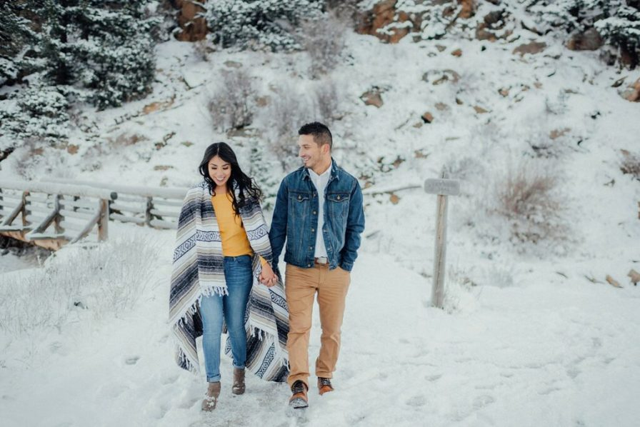 props to use for winter engagement photos