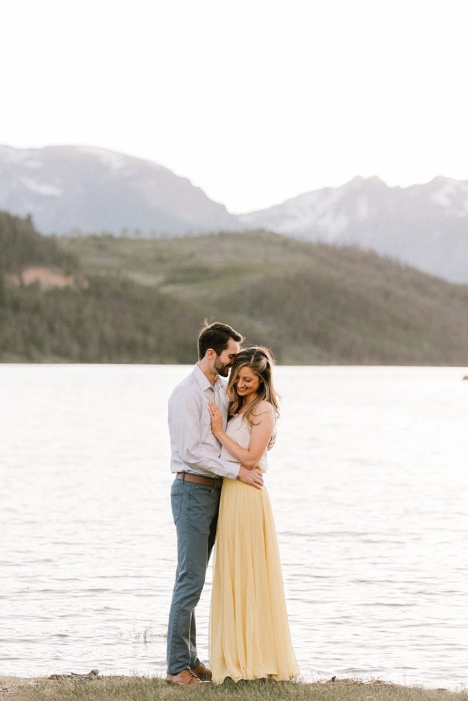 Yellow dress for engagement photos