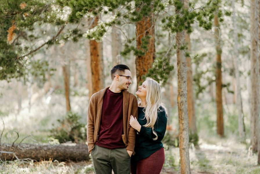 Lily Lake engagement photos in the summer