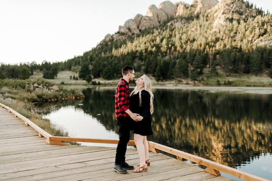 Lily Lake engagement photography