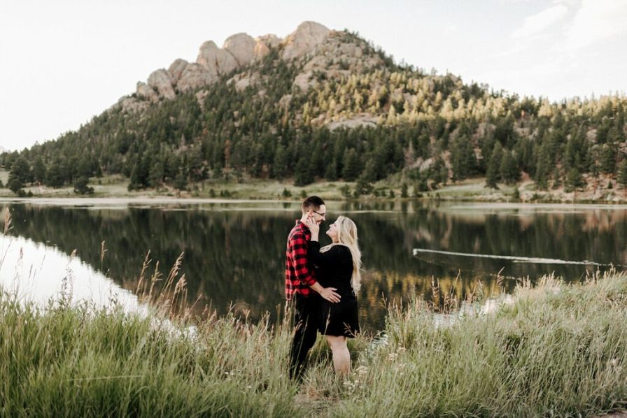 Lily Lake engagement photographer