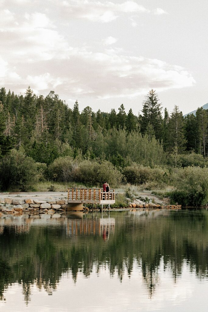 Lily Lake engagement photos in September