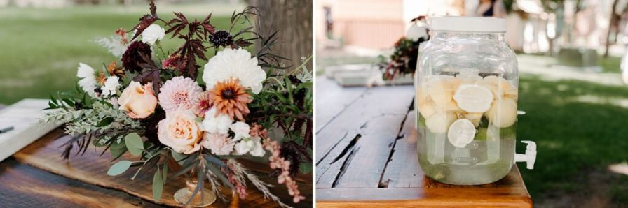wedding ceremony welcome table