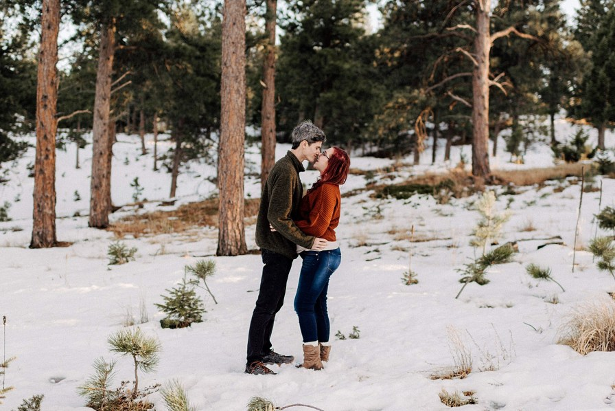 snowy lost gulch engagement session
