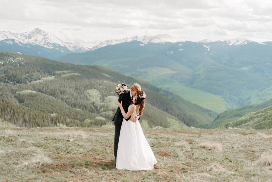 vail mountain wedding deck wedding
