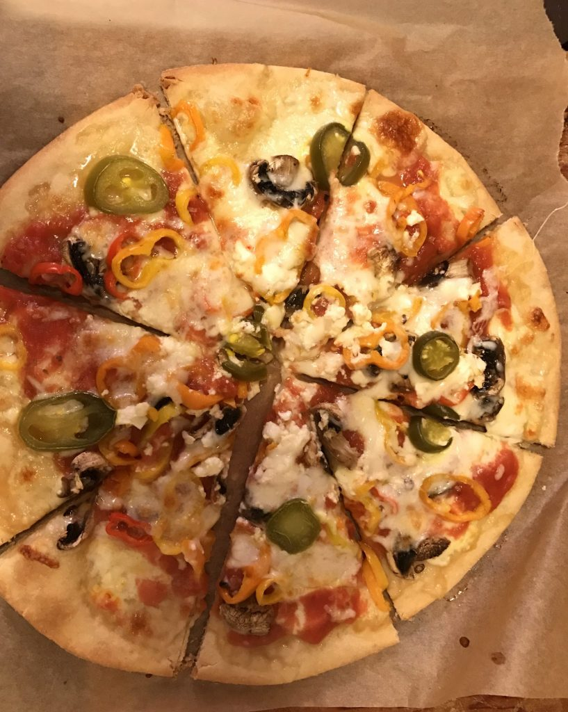 gluten-free fall vegetable pizza