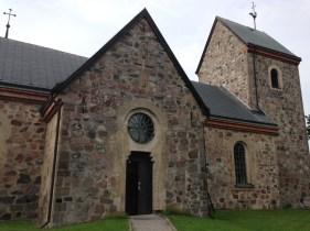 A sturdy rock church built in the 1100's