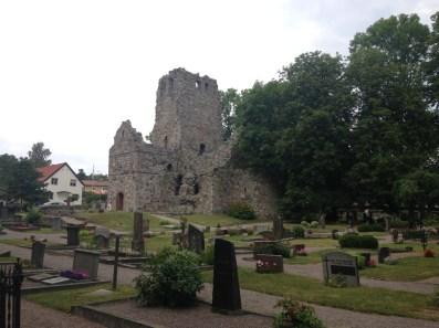 The ruins of St. Olofskyrka (St. Olaf's church)