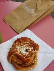 Kanelbulle (cinnamon roll), considered a Stockholm specialty (and verrry tasty)