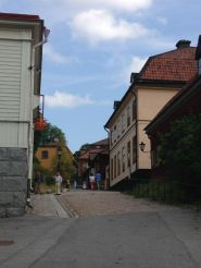 """One of the main """"streets"""" in Skansen"""