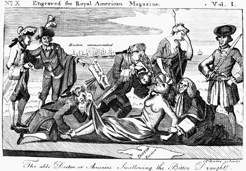 Tea Act of 1773 cartoon