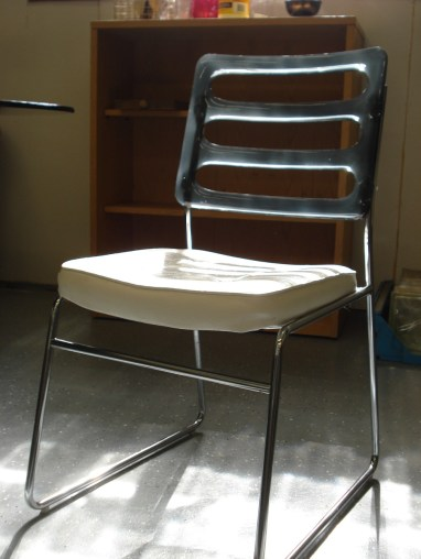 Chromcraft Vinyl and Lucite Dining Chair