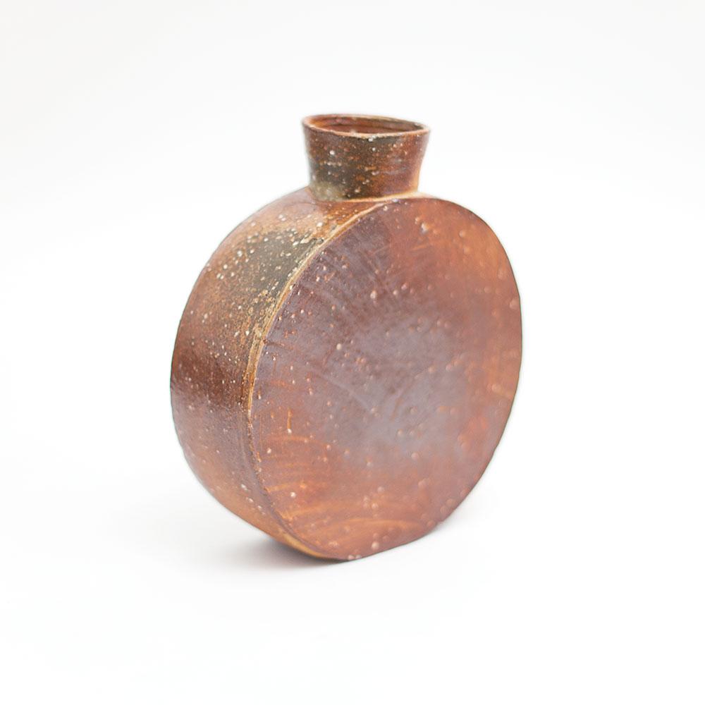 Erik Haugsby woodfired pottery pilgrim jar