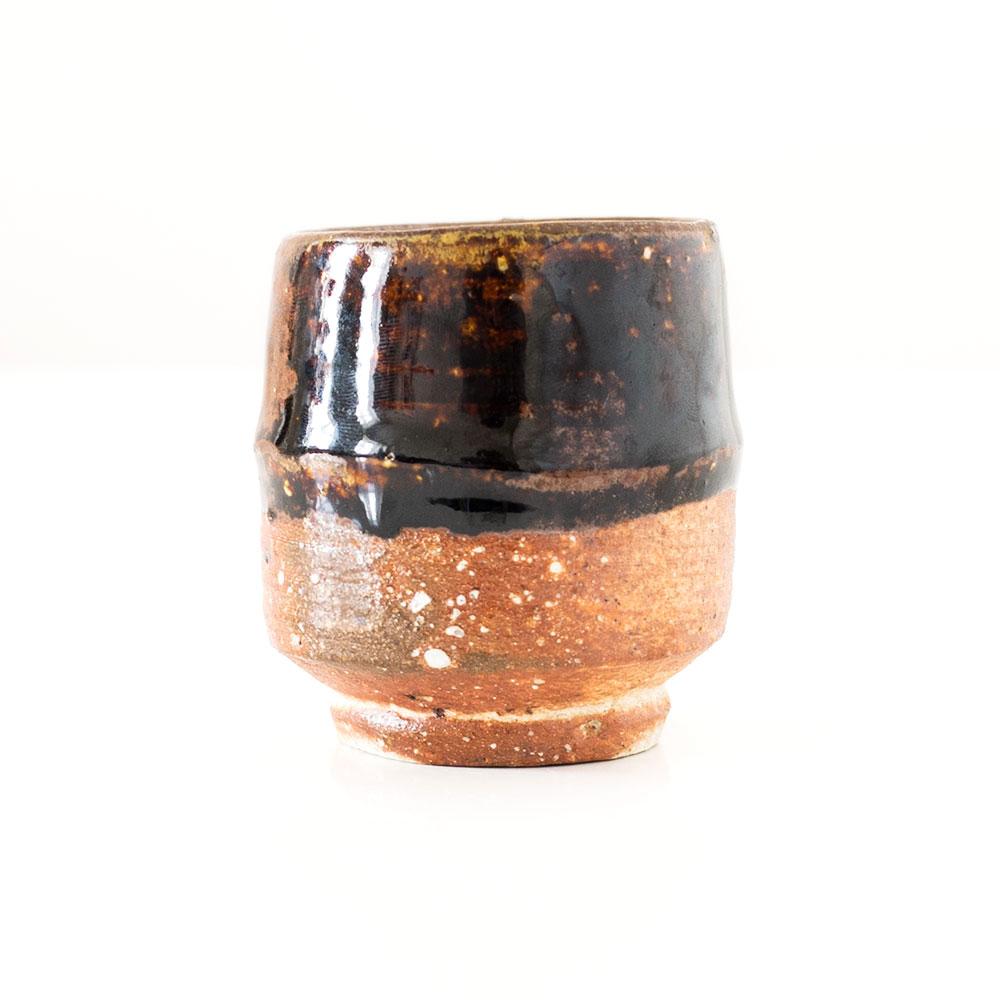 Erik Haugsby Yunomi Cup Tenmoku Woodfired Handmade Pottery Ceramics
