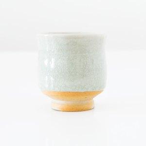 Erik Haugsby Tea Cup Celadon Woodfired Handmade Pottery Ceramics