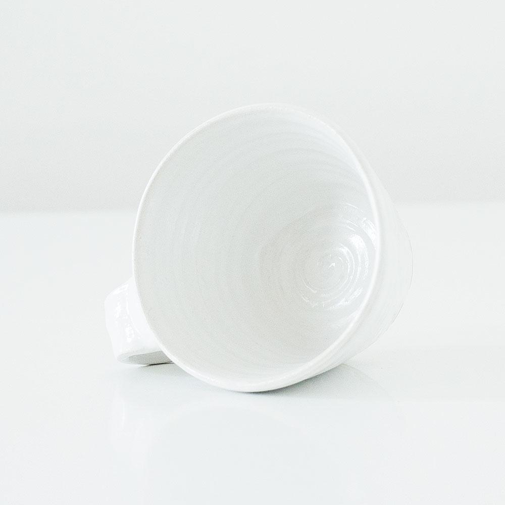 Erik Haugsby Mug White Handmade Pottery Ceramics