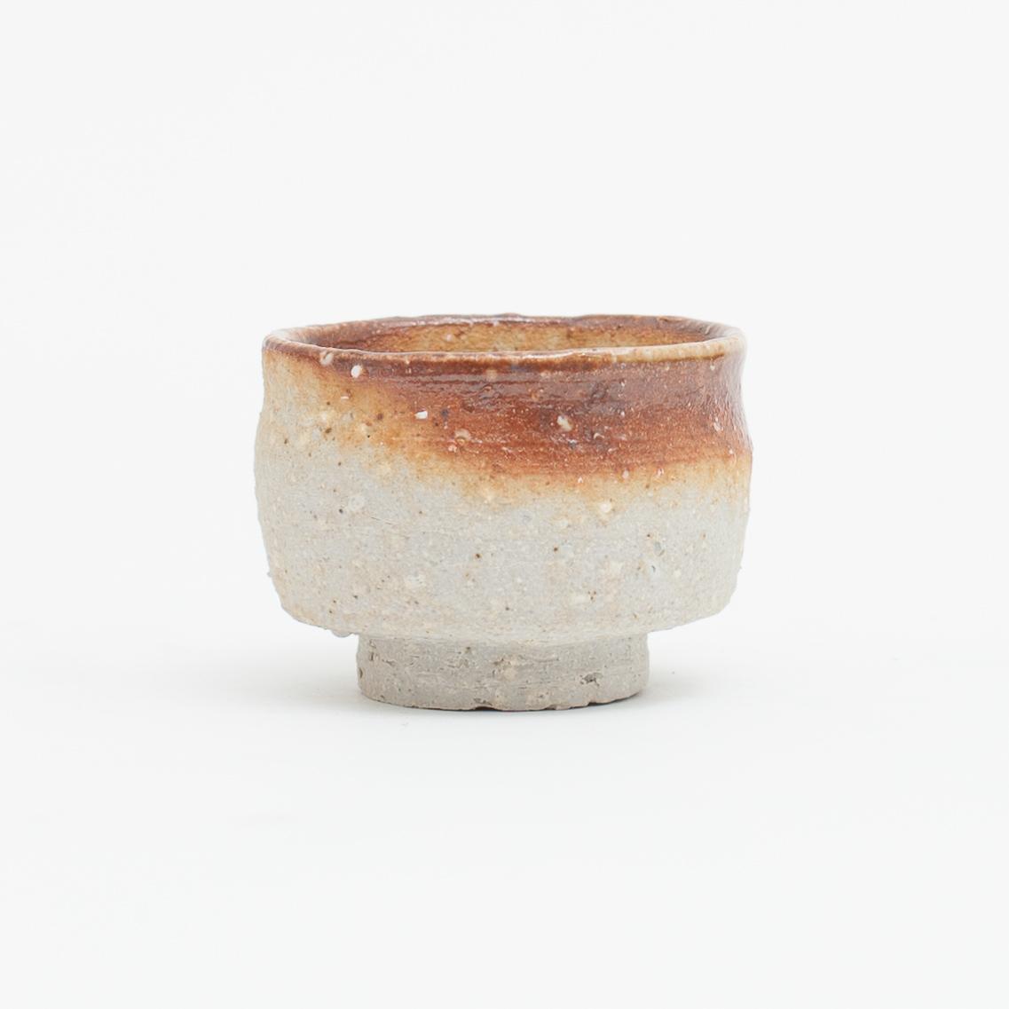 Erik Haugsby Handmade Pottery Guinomi Shot Glass Woodfired